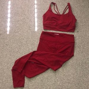Forever 21 two piece set (padded sports bra)